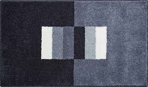 Linea Due CAPRICIO Tapis de Bain, Polyacrylique Supersoft, Gris, 70x120 cm
