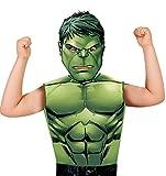 Marvel - Disfraz de Hulk set de fiesta camiseta + máscara, talla única S-M 3-6 años (Rubie's 620970)