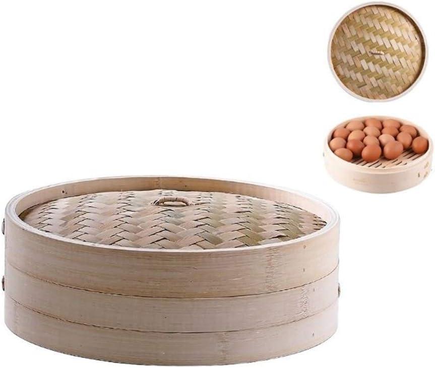 11 pouces itchen bambou Panier vapeur asiatique Cuit-vapeur for Dim Sum Dumplings Gaodpz (Couleur : I) B