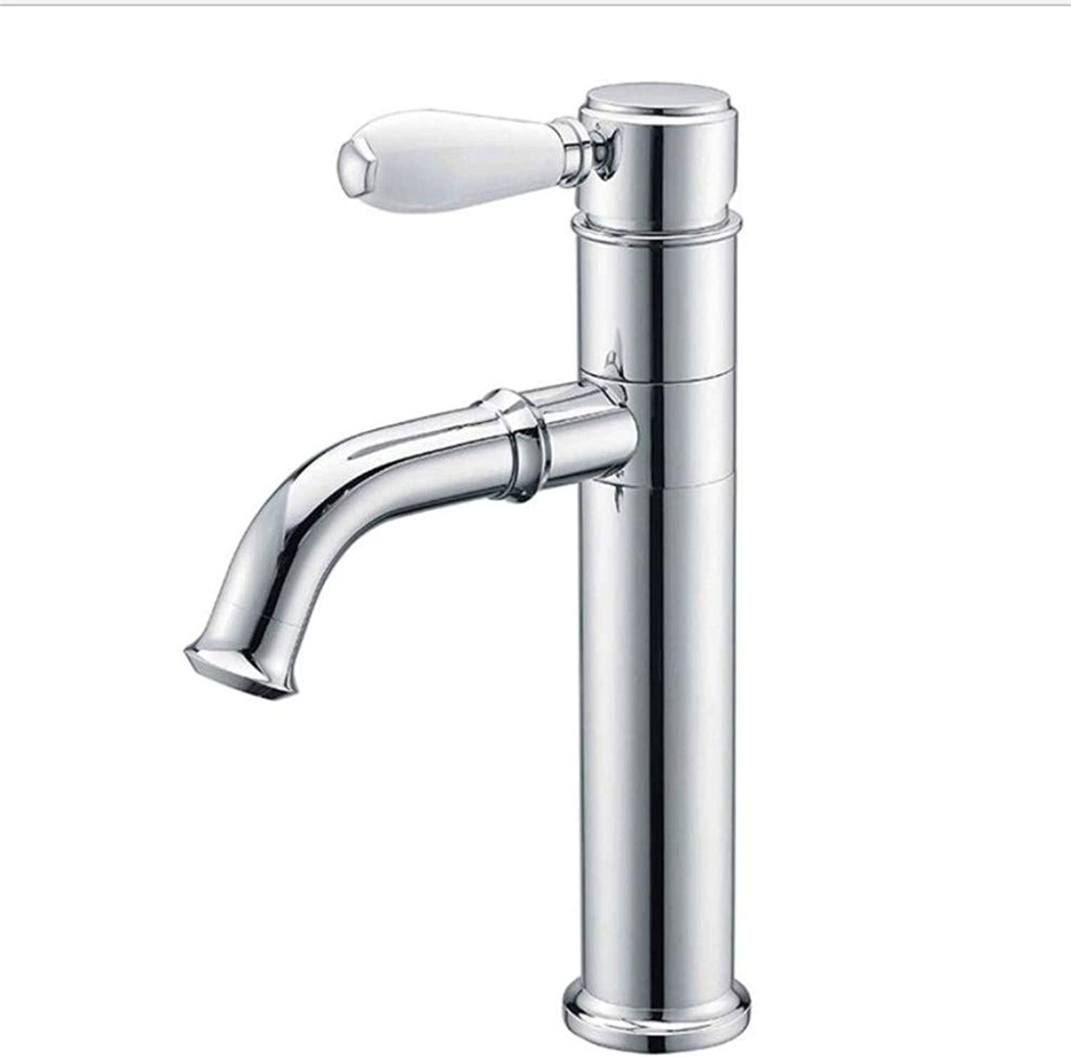 Bathroom Sink Basin Lever Mixer Tap Copper Cold and Hot Basin Faucet Single Hole Washbasin Mixing Faucet