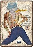 KODY HYDE Metall Poster - Levis Womenswear Blue Jean -