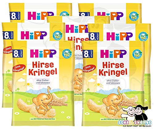 Hipp Kinder Hirse-Kringel, 7er Karton (7 x 30g)