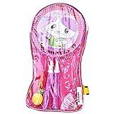 Dilwe 1 par de raquetas de bádminton de colores, para niños, bádminton, raquetas de bádminton y juego deportivo (rosa)