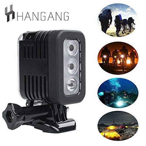 Hangang Wasserdicht LED Unterwasser Tauchlicht für GoPro Hero Action Kameras, Wasserdicht Sidekick Side LED Flash Spot Flutlicht Kamera Zubehör (vertikal)