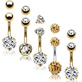 Bodyj4you Belly Button Rings