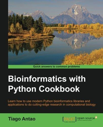 Bioinformatics with Python Cookbook by Tiago Antao (2015-06-25)