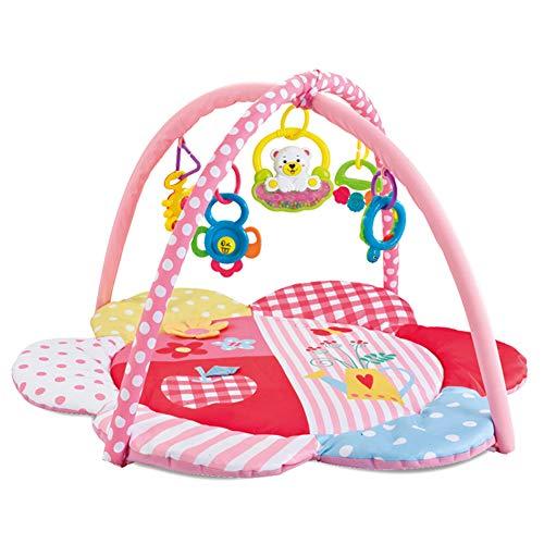 PUDDINGT® Mantita de Juego cantarín 2 en 1, Manta y Gimnasio de Aprendizaje para bebé con más de Canciones, Frases y melodías, Panel extraíble, Multicolor