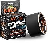T-Rex Waterproof Tape – Ruban d'étanchéité adhésif 827-00 – Pour les fuites d'eau, piscine et tuyaux – Etanche, résistant et flexible – Dimensions : 50mm x 1,5m – Couleur noir
