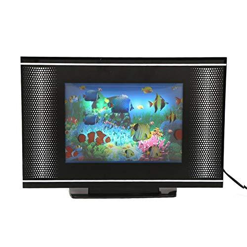 Lightahead LCD Aquarium Lamp. Artificial Sensory Aquarium. Tropical Fish Decorative Lamp. Virtual Ocean in Motion (Fish)