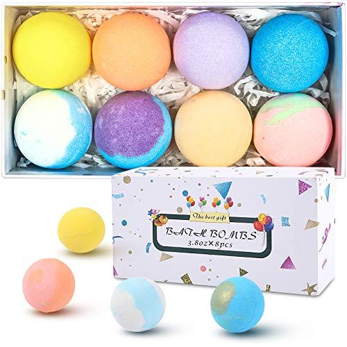 SIX FOXES Natural Bath Bombs Gift Set, Handmade Organic Bubble Bath Bomb, Rich in Essential Oil,...