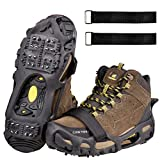 Shaddock Fishing Ice Cleats for Shoes and Boots, Ice Snow Traction Cleats Crampons for Men Women...