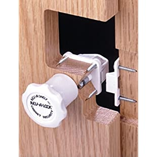 Children Chests of Drawers Kitchen Cupboard Security Lock Rev-A-Lock Castle + STAYWELL - Set 4:Maxmartyn
