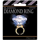 amscan Hollywood Mega Carat Diamond Party Ring,Multicolor,1 3/16'H x 1 1/2'W