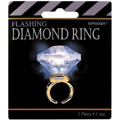 amscan Hollywood Mega Carat Diamond Party Ring,Multicolor,1 3/16'H x 1 1/2'W