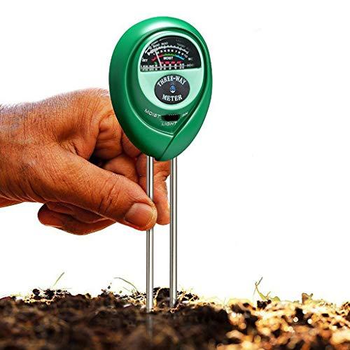 Webla✔ 3 In1 Ph Tester Wasser Feuchtigkeitslicht Test Meter Kit für Gartenpflanzenblume(B)