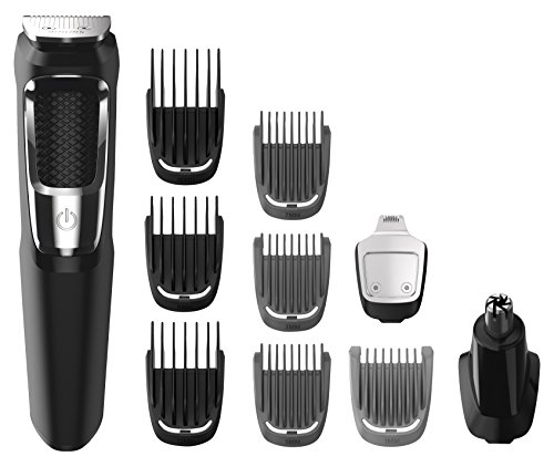 Philips Multigroom Series 3000 Cordless with 10 Trimming Accessories and Storage Bag, MG3750/10