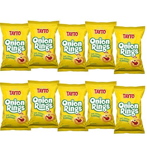 Tayto 2 x 5 Packs Onion Rings Crisps (10 Bags)