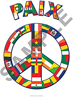 Peace Poster with French Flags