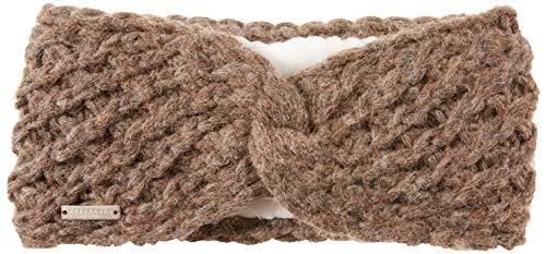 Seeberger Damen Serie Lisl Stirnband, Braun (Nutria 0087), 57 cm (Herstellergröße: one Size)