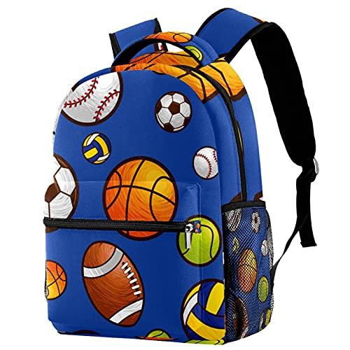 Mochila de baloncesto y fútbol escolar, mochila de viaje, casual, para mujeres, adolescentes, niñas y niños