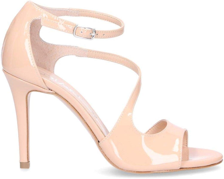 DI LUNA Women's 2379PINK Pink Leather Sandals