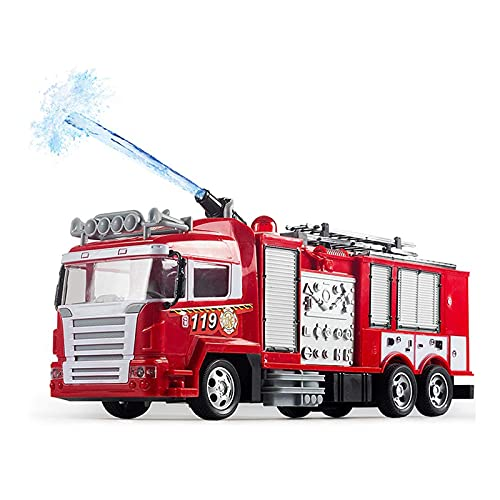 MYRCLMY Control Remoto Rescue Fire Truck Tray Toy RC Truck Camión Firetruck Fireman Vehicles Music Light Light Cool Educational Juguetes para Niños