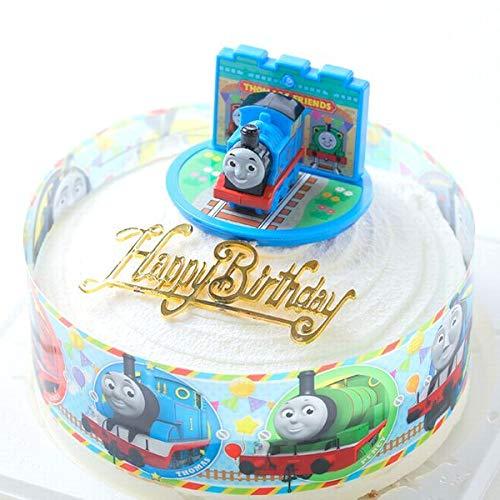 バースデー/ボンブ(ドーム型)きかんしゃトーマス ケーキ/5号・キャラデコ ケーキ/バースデーオーナメントとキャンドル小1袋6本付き/バースデーケーキ