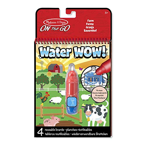 Melissa & Doug Water Wow On The Go da Viaggio - Blocco da Scoprire con Acqua con Puntini da Unire, Multicolor, 19232