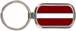 Latvia Flag Keychain