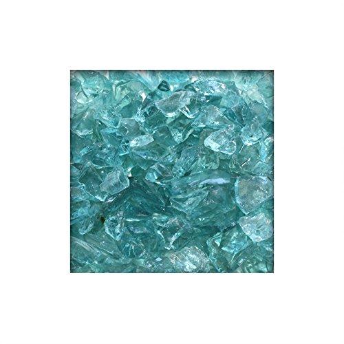 1 kg Glassplitt Glasbruch Glassteine Glas Splitt Deko Farbe Türkis