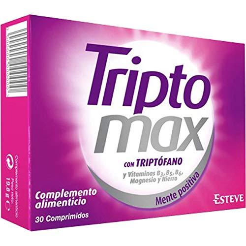 TRIPTOMAX - Complemento Alimenticio para Regular el Estado Anímico, Compuesto de Triptófano + Vitaminas del Grupo B+ Hierro+ Magnesio, 30 Comprimidos