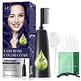 HJL Dark Purple Hair Dye Permanent Hair Color Ammonia...