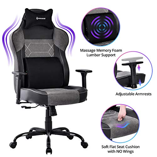 VON RACER Massage Gaming Chair - High Back Big and Tall Adjustable PC Racing Office Computer Desk Ergonomic Swivel Task...