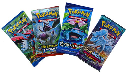 Pokemon TCG: 4 Buste - 40 Carte Totale | Value Pack comprende 4 Blister di Carte a Caso espansioni Marca