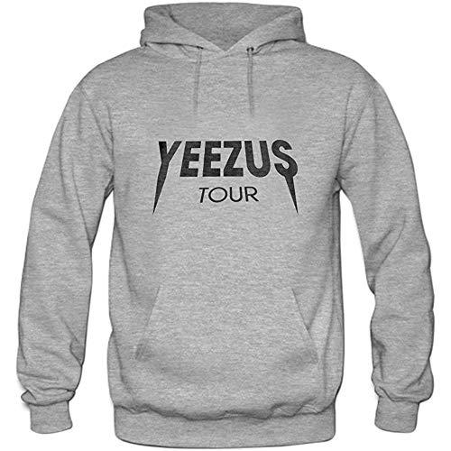 PMQ Mens Yeezus Tour Pullover Sweater Hoodies Grey
