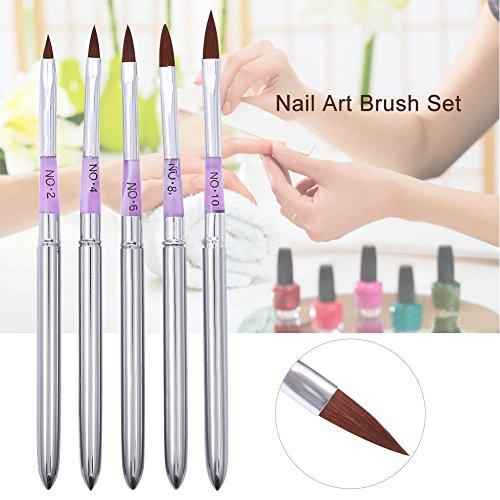 5 pcs Pinceaux d'Ongle Nail Art Manucure Stylo de Peinture Dessin Ligne UV Gel DIY Outil Professionnel