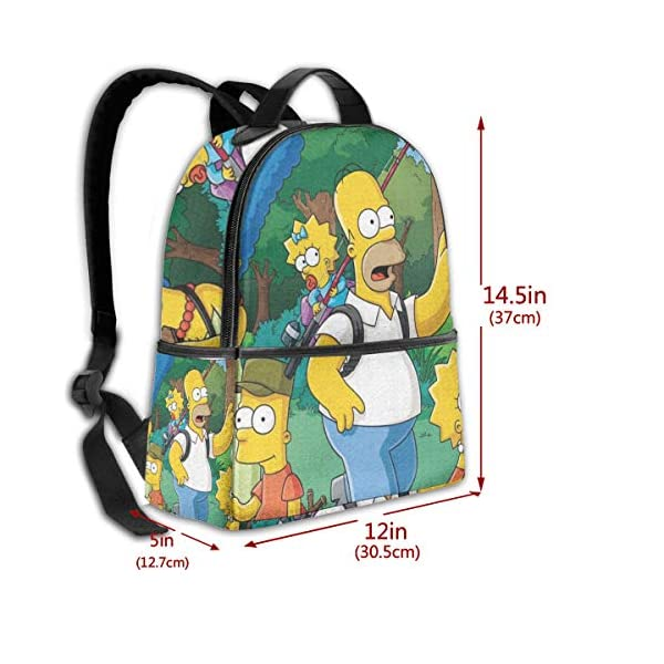51wTyxmlx+L. SS600  - Anime Cartoon Simpsons - Mochila para Estudiantes, Unisex, diseño de Dibujos Animados, 14,5 x 30,5 x 12,7 cm