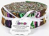Soimoi 40 Unids Impresión Animal De Algodón Telas De Precorte Para La Acolchado Tiras De Artesanía 1.5 X 42 Pulgadas Rollo De Jalea - Multicolor-Y9