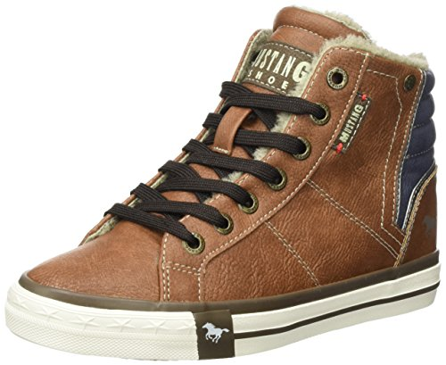 Mustang Unisex-Kinder 5024-602-301 High-Top, Braun (301 Kastanie), 37 EU