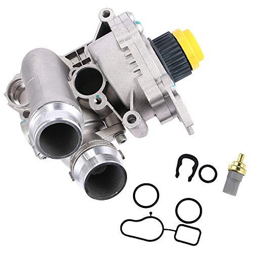 Aluminum Water Pump Assembly for Audi A3 A4 A5 A6 Q3 Q5 TT VW Tiguan Jetta Golf GTI Eos Beetle CC 2.0T TSI #06H121026AB