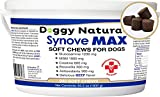 Synove Max Soft Chews for Dogs (240 Count) Beef Flavor, Joint Supplement, Glucosamine, Turmeric, Boswelllia serrata, Creatine Naturally Derived Ingredients better than synovi g4 soft chew