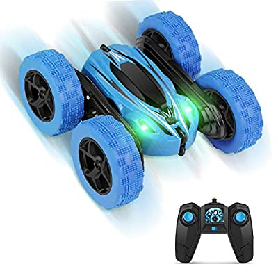 Remote Control Car RC Cars - Drift High Speed Off Road Stunt Truck, Monster Race Toy with 2 Rechargeable Batteries, 4 Wheel Drive, Cool Birthday Gifts for Boys Age 3 5 6 7 8 9 10 11 Year Old Kids Toys