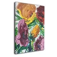 Skydoor J パネル ポスターフレーム カラフルな花 インテリア アートフレーム 額 モダン 壁掛けポスタ アート 壁アート 壁掛け絵画 装飾画 かべ飾り 50×40