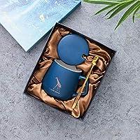 GZHAINER セラミックマグギフトセット コーヒー/紅茶/ウォーターカップ/マグカップ ギフトに バレンタインのギフトに 彼へのギフト (ブルー)