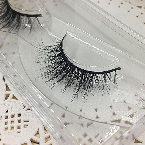 1 Paare Lange 3D Falsche Wimpern Natürliches Aussehen Schwarz Wimpern Erweiterung Makeup Style (1...