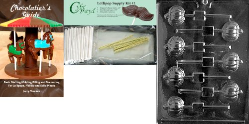 Best Prices! CybrtraydPumpkin Lolly Thanksgiving Chocolate Mold with Chocolatier's Bundle, Include...