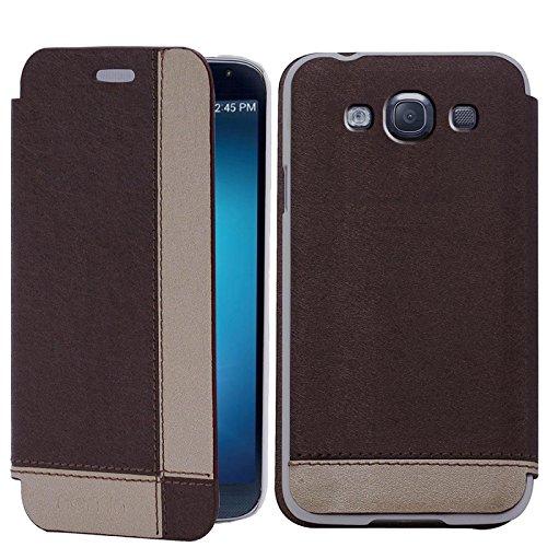 Original Numia Design Luxus Flip Cover Custodia Case Per Samsung Galaxy S3SIII i9300i9305marrone beige Custodia protettiva rigida Bag Nuovo
