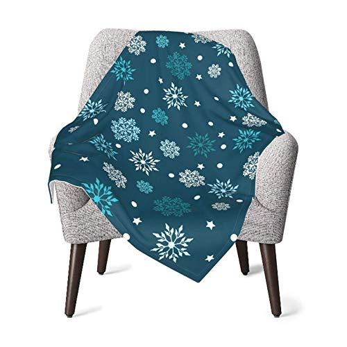 Snowflakes - Manta para bebé, color azul