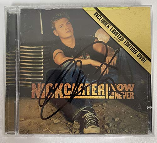 Nick Carter Signed Autographed 'Now or Never' Music CD - COA Matching Holograms