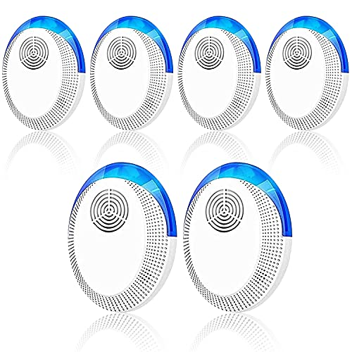 TOMETC Ultrasonic Pest Repeller 6 Pack, 2021 Pest Repellent, Pest Control Set of Electronic Plug in Indoor for Pests